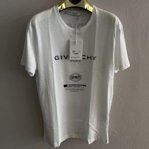 "Givenchy Men Sprit White T-Shirt ""M"""